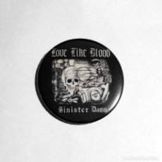 Música de colección: LOVE LIKE BLOOD - SINISTER DAWN IMÁN NEVERA 59MM - ROCK GÓTICO. Lote 51378625
