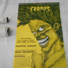 Música de colección: THE CRAMPS CARTEL POSTER CONCIERTO ORIGINAL ARENA AUDITORIUM 1991 VALENCIA SPAIN. Lote 173639800