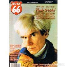 Música de colección: REVISTA RUTA 66 #48 (FEBRERO 1990) . ANDY WARHOL LOU REED JOHN CALE GERARD MALAN. Lote 173681403