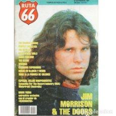 Música de colección: REVISTA RUTA 66 #59 (FEBRERO 1991) . JIM MORRISON THE DOORS REZILLOS CHRIS FARLOWE. Lote 173681530