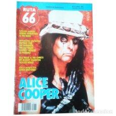 Música de colección: REVISTA RUTA 66 #72 (ABRIL 1992) . ALICE COOPER ROBBIE ROBERTSON THE BAND PERRERA. Lote 173681680