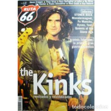 Música de colección: REVISTA RUTA 66 #159 (MARZO 2000) . THE KINKS STONER ROCK MONSTER MAGNET LAIK. Lote 173682130