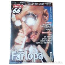 Música de colección: REVISTA RUTA 66 #164 (SEPTIEMBRE 2000) . FARLOPA XTC DR DIVAGO DAKOTA SUITE. Lote 173682192
