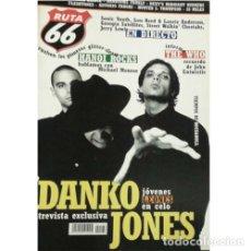 Música de colección: REVISTA RUTA 66 #186 (SEPTIEMBRE 2002) . DANKO JONES HANOI ROCKS THE WHO 20 MILES. Lote 173682322