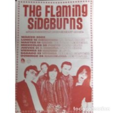 Música de colección: POSTER THE FLAMING SIDEBURNS SPAIN TOUR 2002 . GARAGE ROCK AND ROLL HELLACOPTERS. Lote 174180474