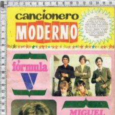 Música de colección: CANCIONERO MODERNO FORMULA V - MIGUEL RIOS.. Lote 174474632