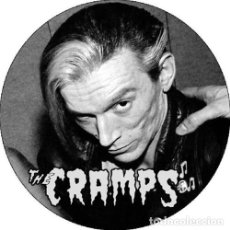 Música de coleção: CHAPA/BADGE THE CRAMPS BRYAN GREGORY . PIN BUTTON LUX INTERIOR POISON IVY PUNK. Lote 228835585