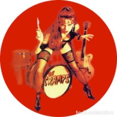 Música de coleção: CHAPA/BADGE THE CRAMPS POISON IVY . PIN BUTTON LUX INTERIOR BRYAN GREGORY TRASH. Lote 228492950