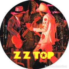 Música de colección: CHAPA/BADGE ZZ TOP . PIN BUTTON BILLY GIBBONS DUSTY HILL FRANK BEARD HENDRIX. Lote 210254623