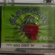 Música de colección: AGUJA TOCADISCOS ORTOFON 650 DST-W - FOX - DIAMANTE. Lote 176298528