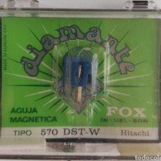 Música de colección: AGUJA TOCADISCOS 570 DST-W - FOX/DIAMANTE. Lote 176430679