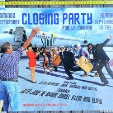 Música de colección: CLOSING PARTY SPACE DANCE IBIZA DISCO DISCOTECA CARTEL. Lote 177969345