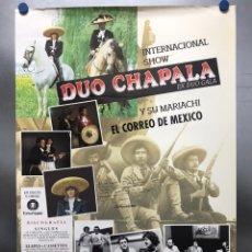 Música de colección: CARTEL DUO CHAPALA JUNTO A MIGUEL RIOS, JOAQUIN SABINA, LABORDETA, JOAQUIN PRATS, CHEMA PURON, 1980. Lote 178140233