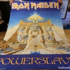 Música de colección: 1984, CARTEL ORIGINAL IRON MADEN, POWERSLAVE, 62X92 CMS, RARISIMO. Lote 178653122