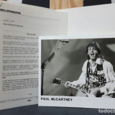 Música de colección: PAUL MCCARTNEY - BEATLES - PAUL IS LIVE - PRESS KIT - USA - CAPITOL - 1993 - EXCELENTE - NO CORREOS. Lote 178799447