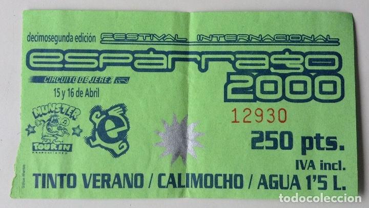 ESPÁRRAGO ROCK 2000 VALE CALIMOCHO MUNSTER TOURING GRANADA (Música - Varios)