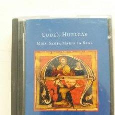 Música de colección: CODEX HUELGAS- MISA DE SNATA MARIA LA REALVO - VOCEL HUELGAS (MINIDISC, SONY). Lote 180253700
