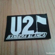 Música de colección: U2 BANDERA BLANCA -- PEGATINA -- ADHESIVO -- ORIGINAL AÑOS 80 -- RECUPERADO -- DIFICIL. Lote 180255722