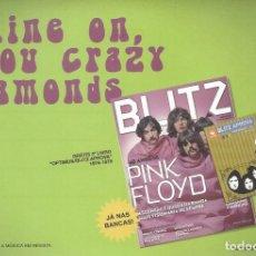 Música de coleção: PINK FLOYD. -POSTAL PROMO REVISTA BLITZ,PORTUGAL-. Lote 181202642