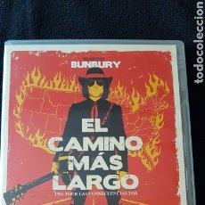 Música de colección: BUNBURY...EL CAMINO MÁS LARGO DVD ..2015. Lote 190020086