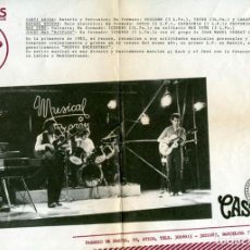 Musica di collezione: PEGASUS (KITFLUS, SUNYER, ESCOTÉ, ARISA) - HOJA PROMOCIONAL PRENSA DEL ALBUM NUEVOS ENCUENTROS, 1982. Lote 190086206