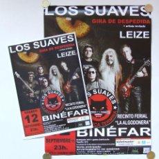 Música de colección: CARTEL CONCIERTO DE LOS SUAVES GIRA DE DESPEDIDA LEIZE + HOJA PUBLICITARIA . Lote 190484621