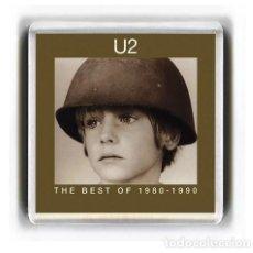 Música de colección: IMAN ACRILICO NEVERA - MUSICA U2 THE BEST OF 1980-1990. Lote 191750785