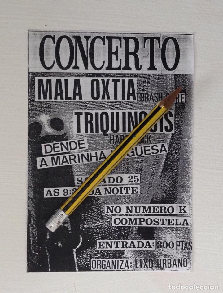 MALA OXTIA TRIQUINOSIS FLYERS DEL CONCIERTO ORGANIZADO POR LIXO URBANO (Música - Varios)