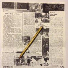Música de colección: LOS MUERTOS DE CRISTO HOJA PROMOCIONAL DE SUS INICIOS. Lote 193366320