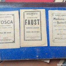 Música de colección: NI IDEA ,ARGUMENTO LA TOSCA,FAUST Y MADAMA BUTTERFLY. Lote 193404115