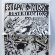 Música de colección: CATALOGO DE DISTRIBUCIÓN PUNK HARDCORE MUSKA ESKAPA. Lote 193442130