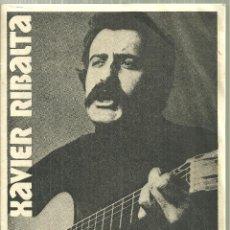 Música de colección: 3915.- CANÇO CATALANA - XABIER RIBALTA THEATRE DE L`OLYMPIA 2 MARS DE 1975 - NOVA CANÇO CATALANA. Lote 193800953