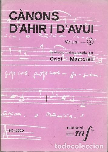 CANÇONS D'AHIR I D'AVUI VOLUM 2 ORIOL MARTORELL (Música - Varios)