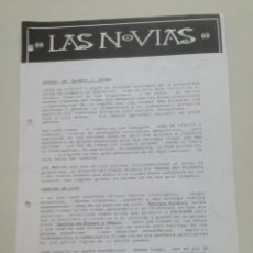 Música de colección: LAS NOVIAS // HOJAS PROMOCIONALES DE PRENSA POLYGRAM 1992 // HEROES DEL SILENCIO ENRIQUE BUNBURY. Lote 194783702