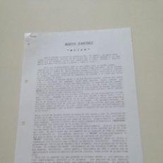 Música de colección: MARTA SANCHEZ MUJER // HOJAS PROMOCIONALES DE PRENSA PROCEDENTES DE ARCHIVO POLYGRAM IBERICA 1993. Lote 194783862