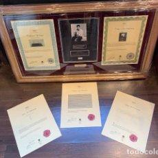 Música de colección: ELVIS PRESLEY AUTHENTIC HAIR LOCK 1964 / MUESTRA DE PELO CERTIFICADO POR REGENTS GALLERY (G). Lote 194871331