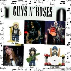 Música de colección: GUNS AND ROSES MINIFIGURAS PERSONALIZADAS LOTE DE 3. Lote 194904798