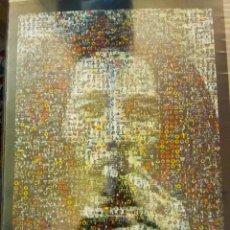 Música de colección: PÓSTER BOB MARLEY IMPRESIONANTE COLLAGE HECHO CON FOTOS DE TODA SU DISCOGRAFÍA 60 X 90. Lote 194923060