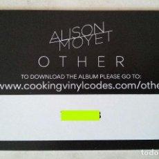 Música de colección: ALISON MOYET - OTHER - ALBUM DIGITAL DE DESCARGA OFICIAL. Lote 194937210