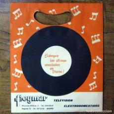 Música de colección: BOLSA DE PAPEL PARA SINGLES DE LA TIENDA FEYMAR - MADRID - CON TICKET DE COMPRA, 1963 - LAVIS. Lote 194941685