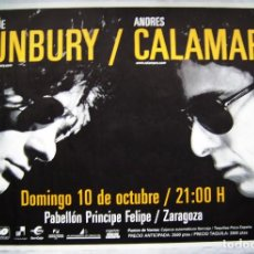 Música de colección: BUNBURY Y CALAMARO. POSTER. 85,5 X 126 CMS... Lote 218518061