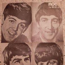 Música de colección: CARTEL : ROCK THE BEATLES. Lote 196774255