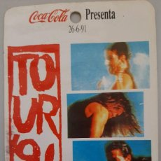 Musique de collection: BACKSTAGE MECANO TOUR 91 COCA COLA. ORIGINAL. Lote 196887381