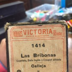Música de colección: ROLLO PIANOLA EN CAJA ORIGINAL - LAS BRIBONAS. Lote 197572990