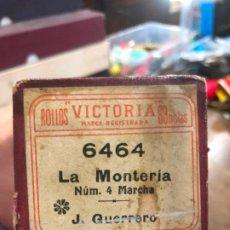 Música de colección: ROLLO PIANOLA EN CAJA ORIGINAL - LA MONTERIA. Lote 197573361