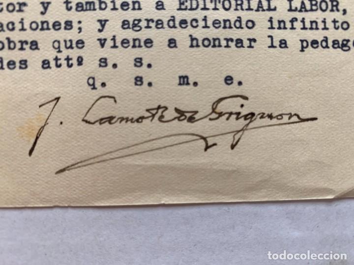 JOAN LAMOTE DE GRIGNON - CARTA CON MEMBRETE Y FIRMA MANUSCRITA (Música - Varios)