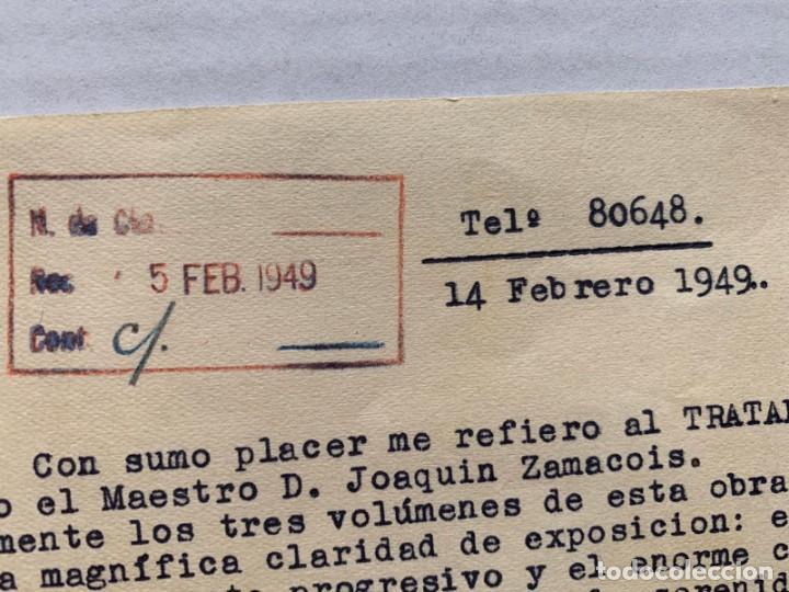 Música de colección: JOAN LAMOTE DE GRIGNON - CARTA CON MEMBRETE Y FIRMA MANUSCRITA - Foto 3 - 197958256
