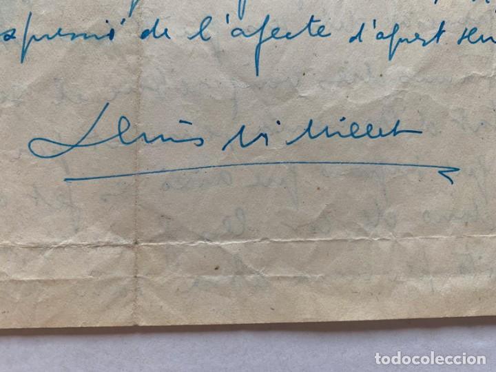 LLUIS MARIA MILLET - CARTA MANUSCRITA A DOBLE CARA A JOAQUIN ZAMACOIS FIRMADA (Música - Varios)