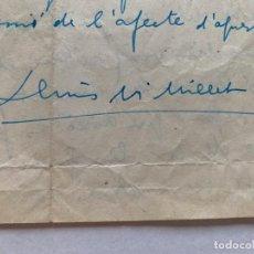 Música de colección: LLUIS MARIA MILLET - CARTA MANUSCRITA A DOBLE CARA A JOAQUIN ZAMACOIS FIRMADA. Lote 197958470
