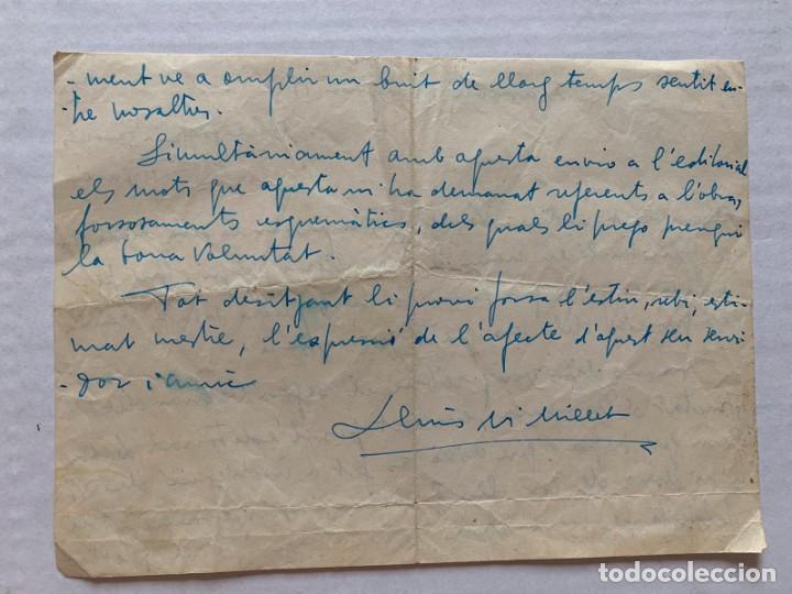 Música de colección: LLUIS MARIA MILLET - CARTA MANUSCRITA A DOBLE CARA A JOAQUIN ZAMACOIS FIRMADA - Foto 3 - 197958470